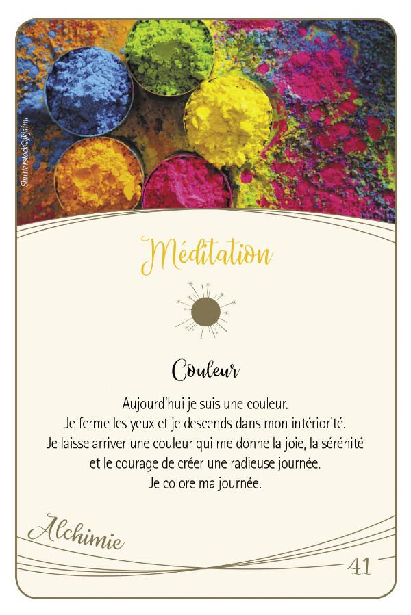 Cartes d'or - Méditation