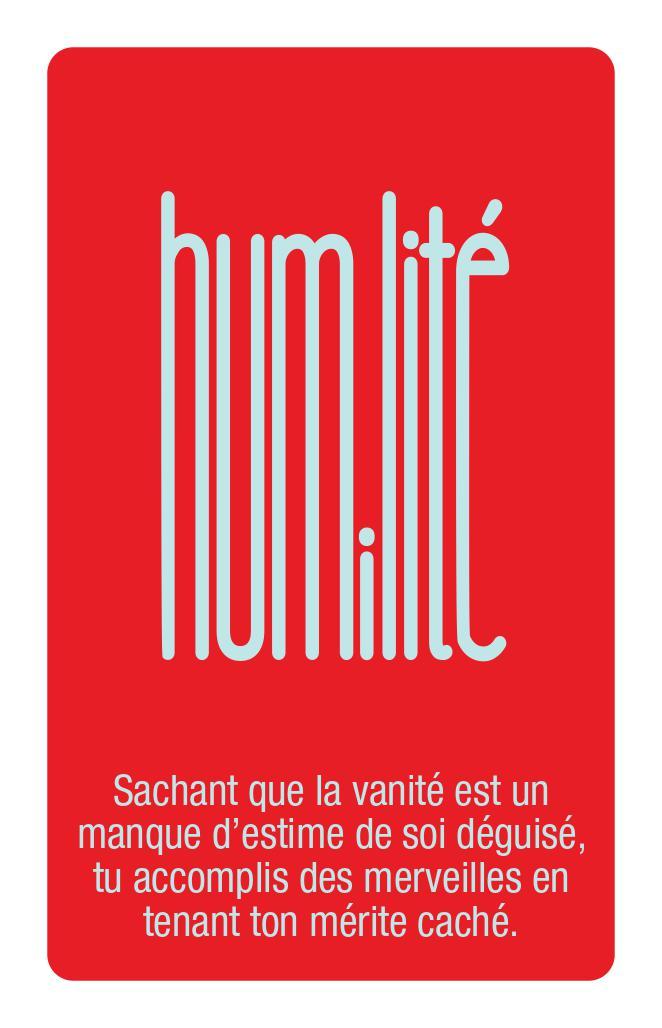 Jeu Couleurs du coeur - Carte Humilité