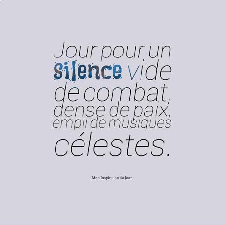 Jour pour un silence vide de combat